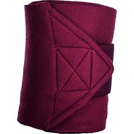 HKM Polar Fleece Bandages 4 Pcs WineRed