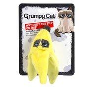 Grumpy Cat Banana Peel Catnip/Crinkle Toy 10cm