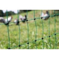 Kerbl Pluimvee Net geleidend groen, 25 meter, 112cm Dubbel