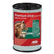 Ako Premium Ultra Schrikdraad 400m Wit/Oranje 2.5mm