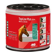 Ako TopLine Plus Afrasteringslint 400m Wit/Rood 20mm