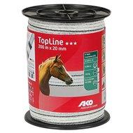 Ako TopLine Weidezaunband 200m Weiß/Schwarz 20mm