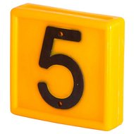 Halsband Nummerblokjes Geel