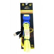 Duvo+ Halsband Nylon Licht Usb Neon Geel