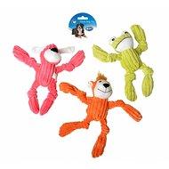 Duvo+ Dogtoy Plush Monkey Toys Rood/groen/oranje 24x28,5cm