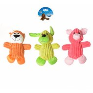 Duvo+ Dogtoy Plush Puppy Animal Mixed Rood/groen 22x17,5cm