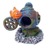 Aqua D Ella Clownvis Met Helm Blauw/grijs 4x3,2x5cm