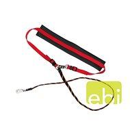Dd Jogging-leash, Elastic - Neopren-lining Rood 115cm
