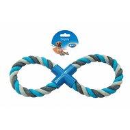 Duvo+ Dogtoy Knoop Katoen 8-trekring Grijs/blauw 33cm