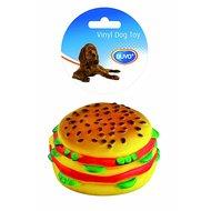 Duvo+ Dogtoy Vinyl Food Burger Bruin Ø9cmx5cm