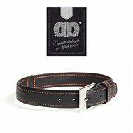 Duvo+ Trendy Leder Halsband Zwart/Oranje