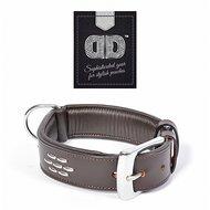Duvo+ Metal Leder Halsband Studs Bruin