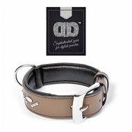 Duvo+ Metal Leder Halsband Studs taupe/zwart