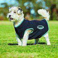 Weatherbeeta Zip Dog Coat Fleece Black/Turquoise