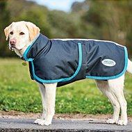 Weatherbeeta Parka Dog Coat Deluxe 1200D Black/Turquoise