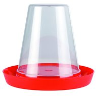 Olba Plastic Kuikendrinkbak Transparant Rood Wit 06l