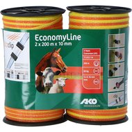 Ako Ruban de Clôture Economyline Double Pack 10mm Jaune orange 2x200m