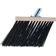 Solide bedrijfsbezem Zwart Nylon 31cm