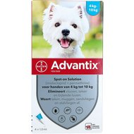 Advantix 100/500 Spot-On Hond 4-10kg