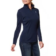 Ariat Shirt Sunstopper 1/4 Zip Blauw