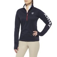 Ariat Vest Tek Team 1/4 Zip Blauw