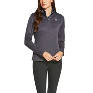 Ariat Longsleeve Conquest 1/4 Zip Woman Grijs