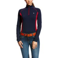 Ariat Shirt Trifactor 1/4 Zip Blauw