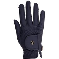 BR Riding Gloves All Weather Pro Leather Feel Blue