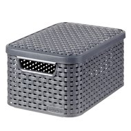 Curver Basket with Lid Rattan Style Small