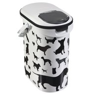 Curver Voedselcontainer Silhouette Hond Wit/Zwart