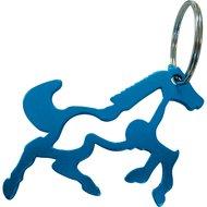 Agradi Sleutelhanger Paard met Flessenopener Blauw