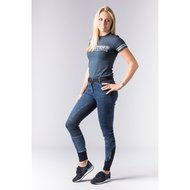 Harrys Horse Rijbroek Glam denim Full Grip Navy