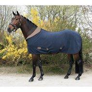 Harrys Horse Deken Teddyfleece Met Halve Hals Blauw