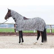 Harrys Horse Flysheet Mesh with Neck Saddle Cutout Zebra