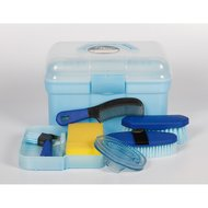 Harrys Horse Grooming Box Complete Light blue