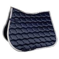 HKM Zadeldek Premium Dressuur Donkerblauw/Zilver