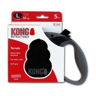 Kong Retractable Leash Terrain 5m Black