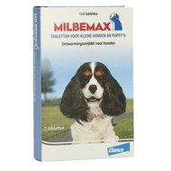 Milbemax Ontwormingstablet Puppy/Klein 2 Tabletten <5kg