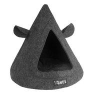 Let's Sleep Pet Cave TeePee Antraciet 50x45cm