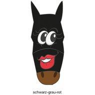 Pfiff Vliegenmasker met Motief Zwart-Grijs-Rood