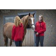 Paard Zoekt Baas Hoody Zwarte Binnenkant Zwart Logo Rood
