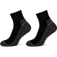 Stapp Yellow Sokken Quarter 2-Pack Zwart