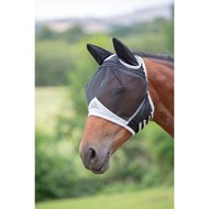 Shires Fly Mask Fine Mesh with Ears Black
