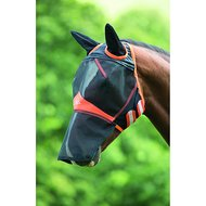 Shires Fly Mask Fine Mesh with Ears & Nose Ext Black