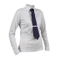 Shires Stropdas Shirt Lange Mouw Dames White