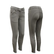 NedHorse Breeches Robin Leather Kneepads Women Grey 44