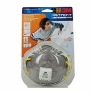 3M Stofmasker Cupvorm met Uitademventiel 2st