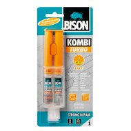 Bison 2-componentenlijm Kombi Turbo 2st Transparant 12ml