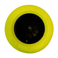 Altrad Fort Flex Pro kruiwagenwiel zwart/geel 13cm