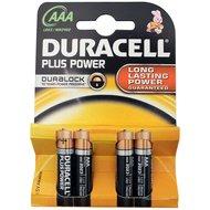 Duracell Plus Power batterij penlite AAA 4 stuks